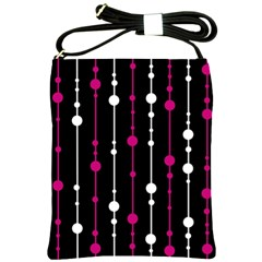 Magenta white and black pattern Shoulder Sling Bags