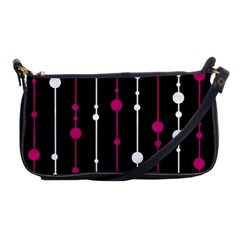 Magenta white and black pattern Shoulder Clutch Bags