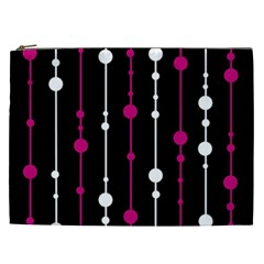 Magenta white and black pattern Cosmetic Bag (XXL)