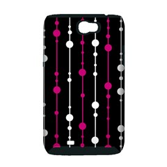Magenta white and black pattern Samsung Galaxy Note 2 Hardshell Case (PC+Silicone)