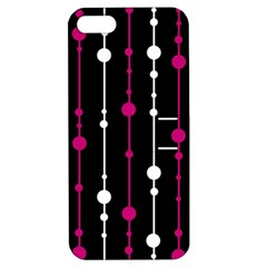 Magenta white and black pattern Apple iPhone 5 Hardshell Case with Stand