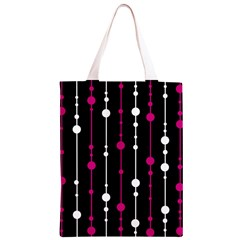 Magenta white and black pattern Classic Light Tote Bag