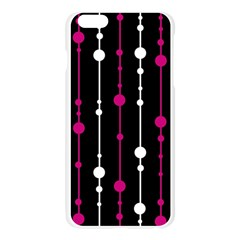 Magenta white and black pattern Apple Seamless iPhone 6 Plus/6S Plus Case (Transparent)