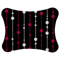 Magenta white and black pattern Jigsaw Puzzle Photo Stand (Bow)