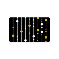yellow, black and white pattern Magnet (Name Card)