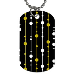 yellow, black and white pattern Dog Tag (One Side)