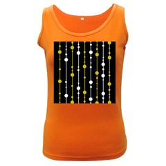yellow, black and white pattern Women s Dark Tank Top