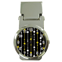 yellow, black and white pattern Money Clip Watches