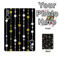 yellow, black and white pattern Playing Cards 54 Designs
