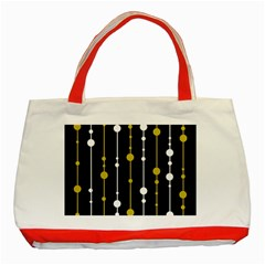 yellow, black and white pattern Classic Tote Bag (Red)