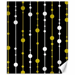 yellow, black and white pattern Canvas 20  x 24