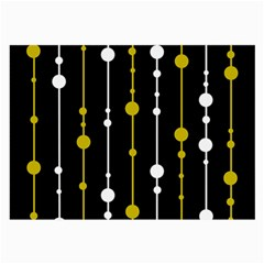 yellow, black and white pattern Large Glasses Cloth (2-Side)