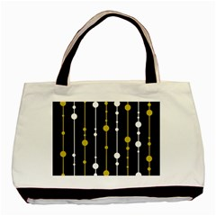 yellow, black and white pattern Basic Tote Bag (Two Sides)