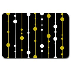yellow, black and white pattern Large Doormat