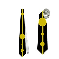 yellow, black and white pattern Neckties (One Side)