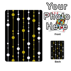 yellow, black and white pattern Multi-purpose Cards (Rectangle)