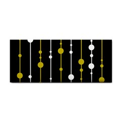 yellow, black and white pattern Hand Towel