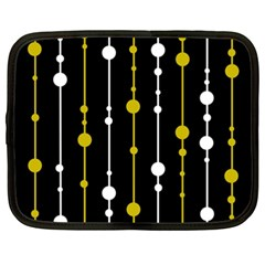yellow, black and white pattern Netbook Case (XXL)