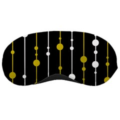 yellow, black and white pattern Sleeping Masks