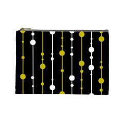 yellow, black and white pattern Cosmetic Bag (Large)
