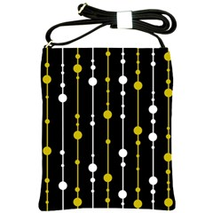 yellow, black and white pattern Shoulder Sling Bags