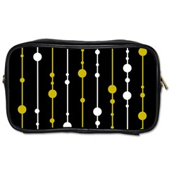 yellow, black and white pattern Toiletries Bags 2-Side