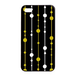 yellow, black and white pattern Apple iPhone 4/4s Seamless Case (Black)