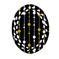 yellow, black and white pattern Ornament (Oval Filigree)