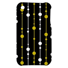yellow, black and white pattern Apple iPhone 3G/3GS Hardshell Case