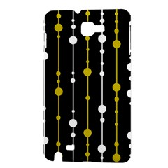 yellow, black and white pattern Samsung Galaxy Note 1 Hardshell Case