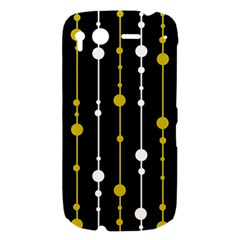 yellow, black and white pattern HTC Desire S Hardshell Case