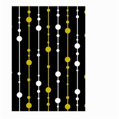 yellow, black and white pattern Large Garden Flag (Two Sides)