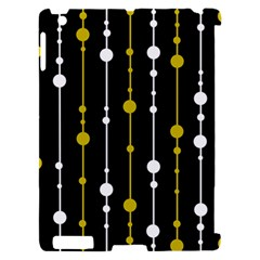 yellow, black and white pattern Apple iPad 2 Hardshell Case (Compatible with Smart Cover)