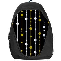 yellow, black and white pattern Backpack Bag