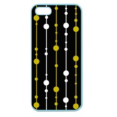 yellow, black and white pattern Apple Seamless iPhone 5 Case (Color)