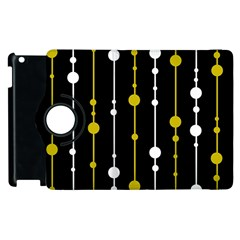 yellow, black and white pattern Apple iPad 3/4 Flip 360 Case