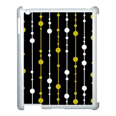 yellow, black and white pattern Apple iPad 3/4 Case (White)