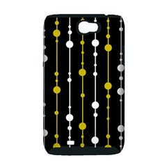 yellow, black and white pattern Samsung Galaxy Note 2 Hardshell Case (PC+Silicone)
