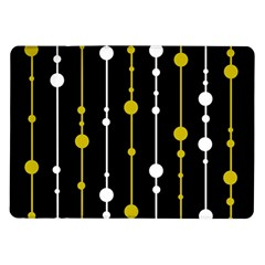 yellow, black and white pattern Samsung Galaxy Tab 10.1  P7500 Flip Case