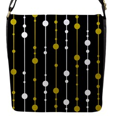yellow, black and white pattern Flap Messenger Bag (S)