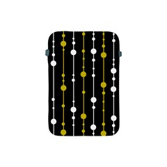 yellow, black and white pattern Apple iPad Mini Protective Soft Cases