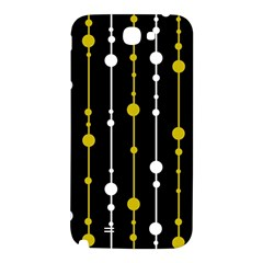 yellow, black and white pattern Samsung Note 2 N7100 Hardshell Back Case