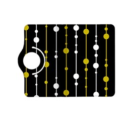 yellow, black and white pattern Kindle Fire HD (2013) Flip 360 Case
