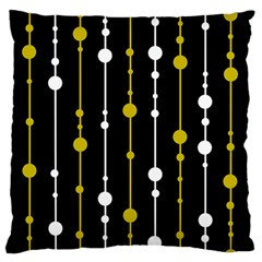 yellow, black and white pattern Large Flano Cushion Case (Two Sides)