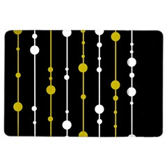 yellow, black and white pattern iPad Air 2 Flip