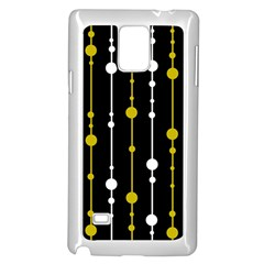 yellow, black and white pattern Samsung Galaxy Note 4 Case (White)