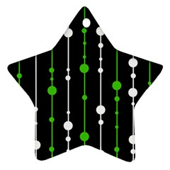 Green, white and black pattern Ornament (Star)
