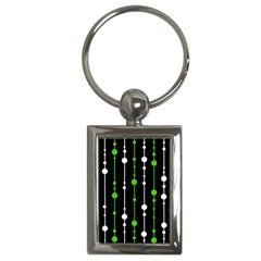 Green, white and black pattern Key Chains (Rectangle)