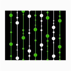 Green, white and black pattern Small Glasses Cloth