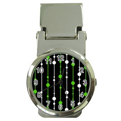 Green, white and black pattern Money Clip Watches